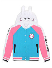 OVERWATCH D.Va Thin Hoodie Cosplay Costume For Women Baseball Coat Jacket