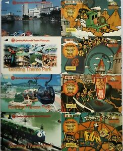 Malaysia Used Phone Cards - 8 pcs Genting Highlands Resorts Malaysia Theme Park