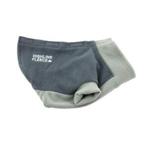 Highline Fleece Dog Coat Two Tone Gray Little to Big Dog Sizes 8-28