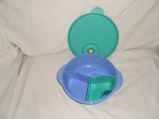 Tupperware CrystalWave Lunch 'n Dish Microwave Divided Bowl with Cold Cup