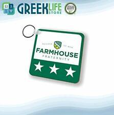 Farmhouse Natural Wood Key Chain