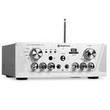 Platzsparender HiFi-Verstärker mit MP3-fähigen USB- & SD-Slot, Radio & 2 Line-IN