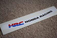 HRC Visor Helmet Sunstrip Sport Racing Motorbike Bike Decal Sticker White