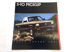 1987 Chevrolet S-10 Pickup Truck 20-page Original Car Sales Brochure Catalog