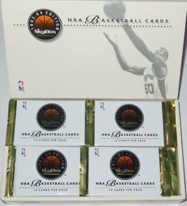 1993/94 Skybox Premium NBA Basketball 4-Pack Series 1 Lot Brand New from the Box