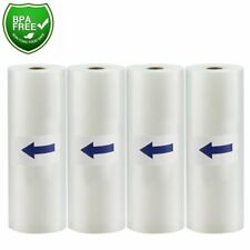 "11""x50' Food Saver Vacuum Sealer Bags Rolls 4Mil Embossed FoodSaver Storage Bags"