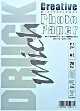 Photo Paper Self-Adhesive 20 Sheets A4 115g G/M ² Glossy 1-seitig Sticker