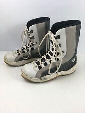 Para Hombre bd Gris Blanco Impermeable Botas Zapatos Para Caminar Nieve Luna UK 10 EU 44