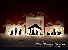 Nativity Scene Vinyl Lettering - fits perfect on KraftyBlok or glass blocks