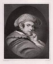"WOW John Hamilton MORTIMER 1800s Engraving ""The Character Portrait"" SIGNED COA"