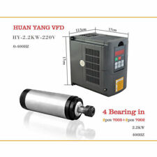 ER20 2.2KW Water-cooled 4 Bearing Spindle Motor+Matching VFD Inverter Drive CNC