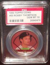 PSA 10 GEM MT 10 - #59 Robby Thompson 1990 Topps Coins San Francisco Giants