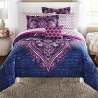 King, Queen or Full Size 8 Piece Bedding Comforter Set Sheets Medallion 2dayShip