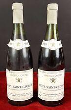 2 BOUTEILLES DE VIN. NUITS SAINT GEORGES. MAURICE CHENU. BOURGOGNE. 1989.