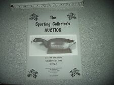 Duck Decoy & Sporting Collectors Auction Catalog Easton Maryland Ward Cobb Mason