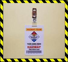 HAZMAT ID Card PVC >>Customize With Your Name<< PVC ID - FD SAFETY - TAG - BADGE