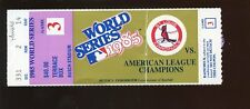 1985 World Series Ticket Stub Kansas City Royals at St. Louis Cardinals Game 3