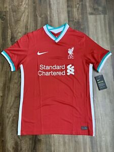 Nike Liverpool Red Home 2020-2021 Soccer Jersey Football Dri-Fit Medium BNWT