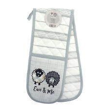 Country Club Ewe and Me Double Oven Glove Mitt Pot Holder Heat Protection Sheep