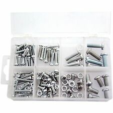 150 Piece Assorted Nut And Bolt Kit - Set M4 M5 M6 Nuts & Bolts In Box