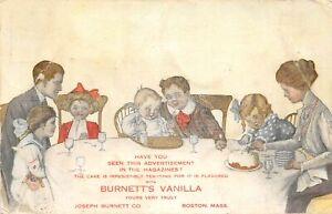 H71/ Advertising Postcard c1910 Burnett's Vanilla Family Dinner Boston 61