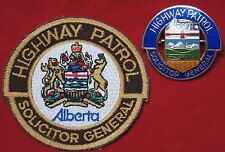 VINTAGE ALBERTA HIGHWAY PATROL - SOLICITOR GENERAL - Patch & Pin - Obsolete -NCC
