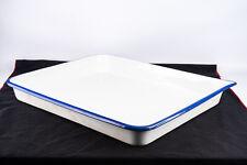 Vintage 16x20'' Porcelain Enamel Wear Darkroom Print Developing Tray V13