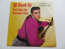 ELVIS PRESLEY États-Unis d'Amérique 45 all shook up rouge vinyle PRESSER