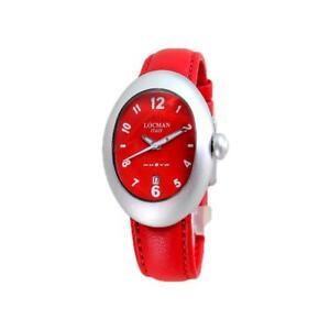 Orologio Donna LOCMAN NUOVO 001500RD0008LNR Alluminio Pelle Rosso