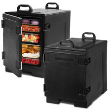 Costway 2pcs End Loading Insulated Food 5 Pan Carrier Hot Coldcapacity Withhandle