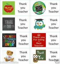 40 x Thank you Teacher A labels/stickers for cake/sweets/presents/gift bags