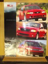 Original Ford motor company 1999 Svt Cobra lightning & contour Poster