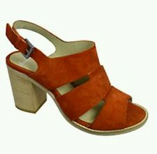 * CLARKS * PANARY HONEY ORANGE  LEATHER SUEDE SHOES SIZE 5 NEW