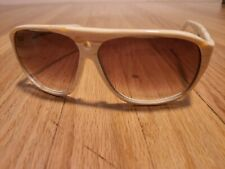 VINTAGE 2010 MAY FOURTEENTH SUNGLASSES CREAM W BROWN LENS Mosley Tribes rayban
