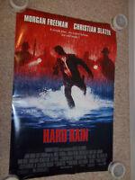 Hard Rain Movie Poster Double Sided Morgan Freeman Christian Slater