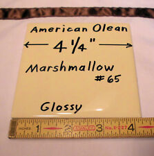 1 pc.  *Glossy Marshmallow Yellow* Ceramic Tiles by American Olean...4-1/4