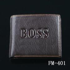 FM-401 Men's 2016 money BIFOLD Genuine Leather wallet purse + Gift Box Free P&P
