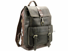 Rucksack Backpack XL Visconti Real Leather Oil Brown Top Quality Distressed