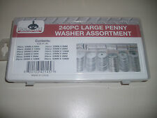 240 Piece GOLIATH TOOL large penny washer assortment with case