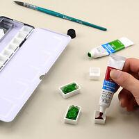 Full/Half Pan Paint Plastic Watercolor Grid Artists Palette Art Supplies chic