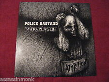 POLICE BASTARD / WAR//PLAGUE Attrition LP Profane Existence Doom Provoked crust