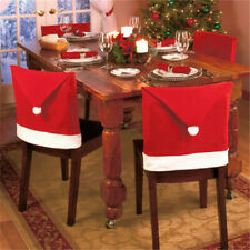 Christmas Santa Claus Red Chair Back Cover Xmas Home Dinner Party Table Decor
