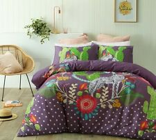 Nevada Printed 100% Cotton Quilt Cover Set with Pillowcases Queen King Size