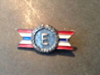 Vintage WWII E ARMY NAVY Production AWARD Sterling PIN