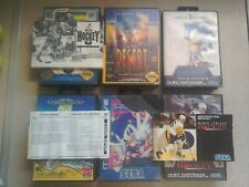 6 EMPTY BOXES - For Sega Mega Drive Games (No Games Included - All Have Wear)