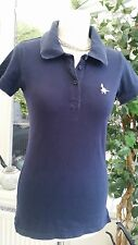 """Ladies Jack Wills Size small 8 NavyBlue Polo Top -  VGC - 18"""" pit to pit"""