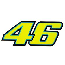 Valentino Rossi `46` new style stickers motorcycle decals custom graphics x 2
