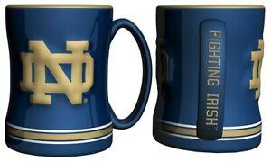 Notre Dame Fighting Irish 14oz Sculpted Relief Coffee Mug NCAA