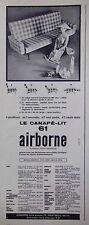 PUBLICITÉ AIRBORNE LE CANAPÉ-LIT 4 POSITIONS CRÉATION PAUL GEOFFROY