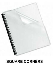 Clear Plastic Report Covers - 7 Mil. -  200 Sheets